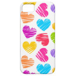 Girly pastel love hearts pattern iPhone 5 cases
