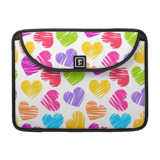 Girly pastel love hearts pattern MacBook pro sleeve