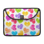 Girly pastel love hearts pattern MacBook pro sleeves