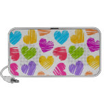 Girly pastel love hearts pattern travel speakers