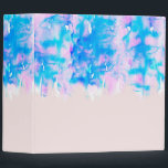 """Girly Pastel Pink and Blue Watercolor Paint Drips 3 Ring Binder<br><div class=""""desc"""">This girly pastel pink and blue watercolor paint drip pattern is perfect for the artsy and trendy hipster woman.</div>"""