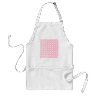 Girly Pastel Pink Floral Pattern. Aprons