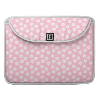 Girly Pastel Pink Floral Pattern. Sleeve For MacBook Pro