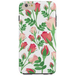 Girly Pastel Pink Rosebuds Tough iPhone 6 Plus Case