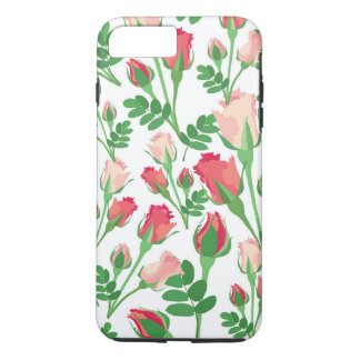 Girly Pastel Pink Rosebuds iPhone 8 Plus/7 Plus Case