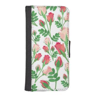 Girly Pastel Pink Rosebuds Phone Wallet