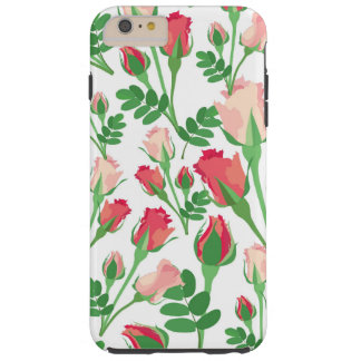 Girly Pastel Pink Rosebuds Tough iPhone 6 Plus Case