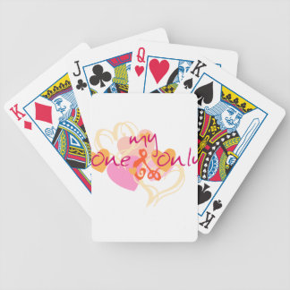 GIRLY PASTEL PINKS CORALS MY ONE AND ONLY LOVE ROM POKER DECK