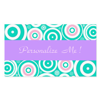 Girly Pastel Purple Modern Mint Trendy Wedding Fun Double-Sided Standard Business Cards (Pack Of 100)
