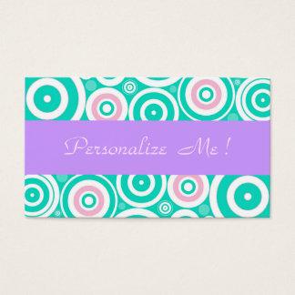Girly Pastel Purple Modern Mint Trendy Wedding Fun Business Card