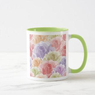Girly Pastel Roses Mug