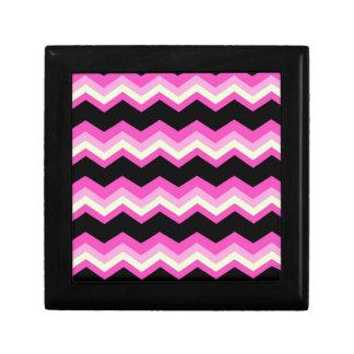 girly pattern zigzag fuchsia hot pink chevron jewelry box