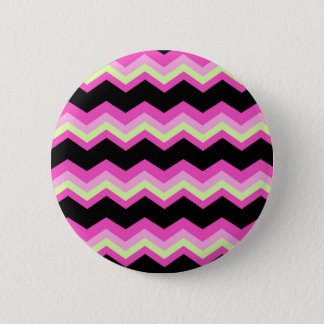 girly pattern zigzag fuchsia hot pink chevron pinback button