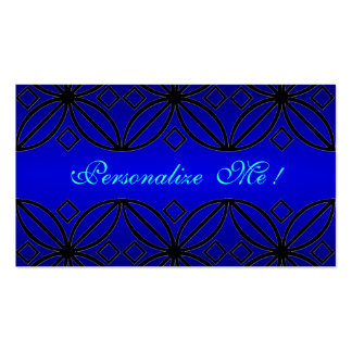 Girly Peacock Blue Bride Cute Abstract Flowers Business Card