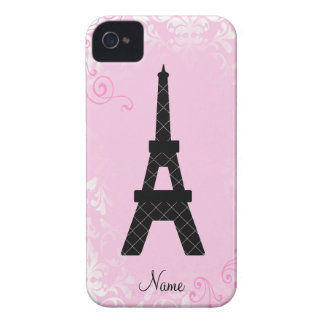 Girly Personalized Eiffel Tower iPhone 4 Case