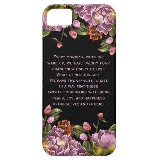 Girly Personalized Pink Peony Floral iPhone SE/5/5s Case