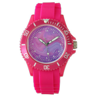Girly Pink Abstract Design Watches