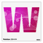Girly Pink Abstract Wavy Line Design Room Stickers