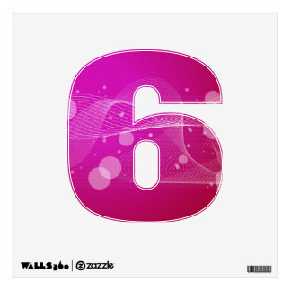Girly Pink Abstract Wavy Line Design Wall Decal