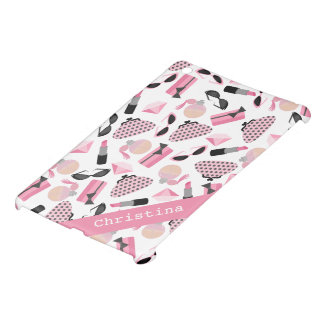 Girly Pink Accessories Personalized iPad Mini Case