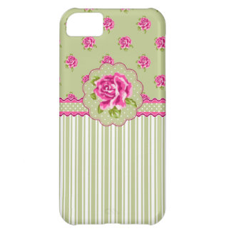 Girly Pink and Gree Floral iPhone 5C Cover