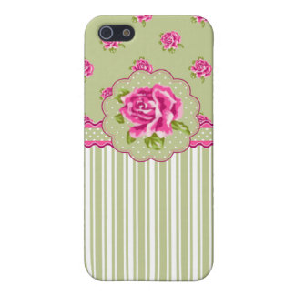 Girly Pink and Green Floral iPhone SE/5/5s Cover