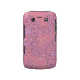 Girly Pink and Lavender Fancy Floral Damask Blackberry Bold Cases