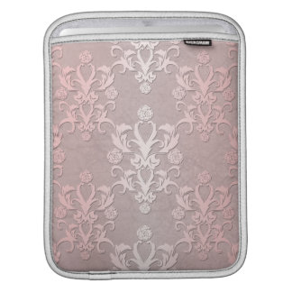 Girly Pink and Pale Pink Fancy Damask iPad Sleeve