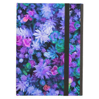 Girly Pink and Purple Floral Succulents Cover For iPad Air