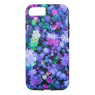 Girly Pink and Purple Floral Succulents iPhone 8/7 Case