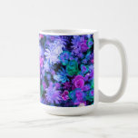 Girly Pink and Purple Floral Succulents Coffee Mugs