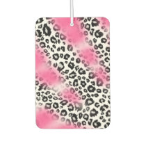 Girly Pink and Snow Leopard Mesh Car Air Freshener
