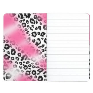 Girly Pink and Snow Leopard Mesh Journal