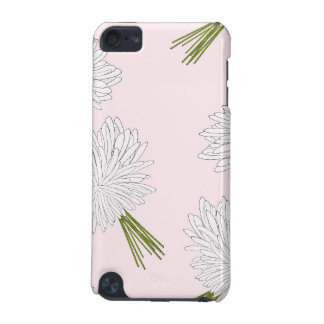 Girly Pink and White Flowers Pattern iPod Touch (5th Generation) Cover