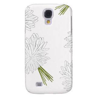 Girly Pink and White Flowers Pattern Galaxy S4 Cover