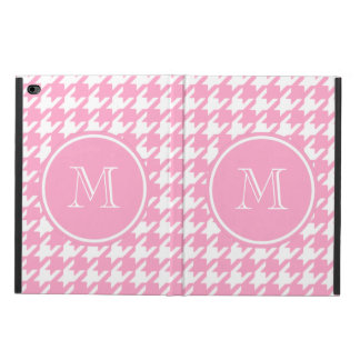 Girly Pink and White Houndstooth Your Monogram Powis iPad Air 2 Case
