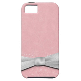 Girly Pink and White Ribbon Floral Design iPhone 5 Cover