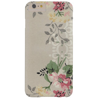 Girly Pink and Yellow Floral Barely There iPhone 6 Plus Case