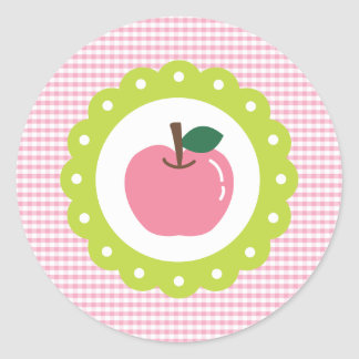 Girly Pink Apple Stickers