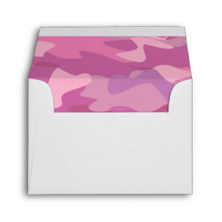 Girly pink army camo camouflage liner envelopes