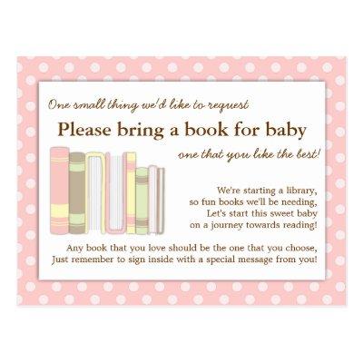 Bring A Book Rustic Lace Burlap Baby Shower Insert Postcard   Zazzle.com