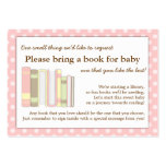 Girly Pink Baby Shower Book Insert Request Card Large Business Cards (Pack Of 100)