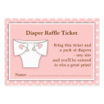 Girly Pink Baby Shower Diaper Raffle Ticket Insert Large Business Cards (Pack Of 100)