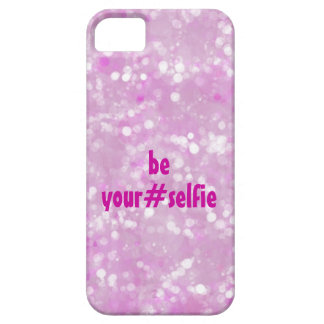 Girly Pink Be Yourself Selfie Hashtag Quote iPhone 5 Cases