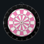 "Girly Pink Black And White Dart Board<br><div class=""desc"">Girly Pink Black And White Dart Board</div>"