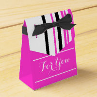 girly pink black white party favors favor box