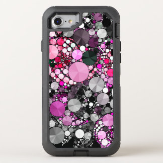 Girly Pink Bling Abstract OtterBox Defender iPhone 8/7 Case