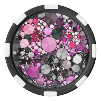 Girly Pink Bling Abstract Poker Chips