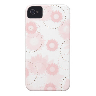 Girly Pink Bloom Mod Circles Pastel Flowers iPhone 4 Cover