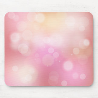 Girly Pink Bokeh Pattern Mouse Pad